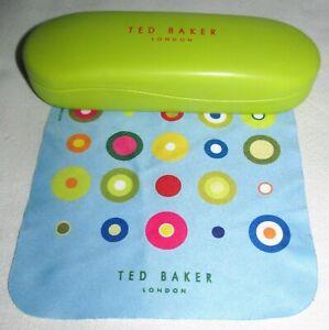 Ted Baker Green Orange Eye Sunglasses Glasses Glass Case Travel Storage Holder