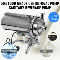 304 Stainless Steel 750W Food Grade Centrifugal Pump Sanitary Beverage Pump 220V