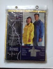 COLEMAN Outdoor Yellow Unisex Hooded Camp Rain Gear Jacket Parka Waterproof New