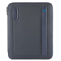 Piquadro Stationery Porta blocco A4 chiusura zip tessuto blu PB2830P16