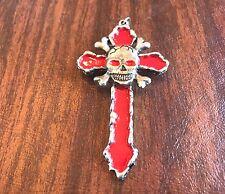 Bikers 1 Gothic Pirate Skull & Cross Bone Cross Medallion Pendant. All New