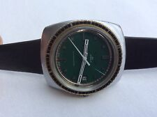Vintage Breitling Sicura Automatic 25 Jewels Rare Green color combination
