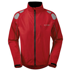 Brisk Bike Cycling Rain Jacket Mens high vis full Sleeve shell cycling jacket