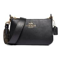 NWT COACH Jes Crossbody Luxury Classic Leather Classic Black Gold Logo F73792
