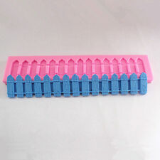 Fence Fondant 3D Molds Silicone Sugar Craft Tools,Chocolate Moulds DIY Baking
