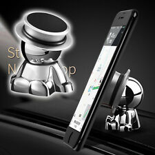 Car Dashboard Stand Accessories Silver 360° Rotation Magnetic Phone Holder Mount