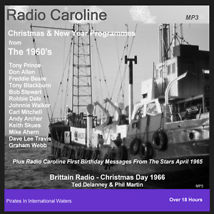 Pirate Radio Caroline Sixties Christmas and New Year 1960s Listen In Your Car