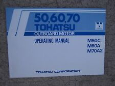 1986 Tohatsu Outboard Motor 50 60 70 Operator Manual We Got Lots Of Manuals! S
