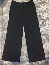 MILLY New York Black Work Pants Straight Wider Leg Size 8
