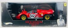 HOTWHEELS ELITE -FERRARI 512 S, NICK MASON- 1:18 LTD EDITION MODEL T6253 -BOXED-