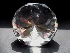*UNIQUE LEAD CRYSTAL DIAMOND SHAPE FACETED ORNAMENT/PAPERWEIGHT*