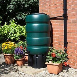 Whitefurze Garden Water Butt | Includes Stand, Diverter Kit & Tap | 100L - 250L