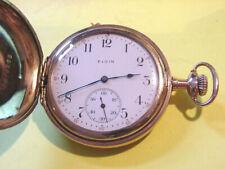 Pocket Watch Running! Antique Elgin Gold Filled