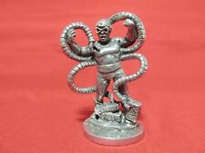 Pewter Warrior With A Snake Figurine