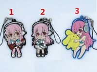 SUPER SONICO SONICOMI Anime Rubber Strap Keychain Keyring Phone Charm Pendant