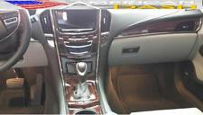 CADILLAC ATS COUPE SEDAN INTERIOR WOOD DASH TRIM KIT 2013 2014 2015 2016 2017