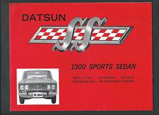1965 DATSUN SS 1300 SPORTS SEDAN VINTAGE 4 PAGE SALES BROCHURE
