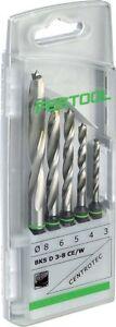Festool Drill Bit Case BKS D 3-8 CE/W - 5 x Centrotec wood drill bits - 493648