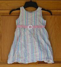Sprockets Girls Size 5T Pink Multi Color Striped Dress