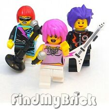 M641 Lego 3x Custom Female Rock Band Singer Custom Minifigures - Lot of 3 - NEW