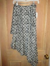 NEW✿ Free People Ayana XS Skirt Mini Maxi Hi Lo Long NWT Black White $118 Retail