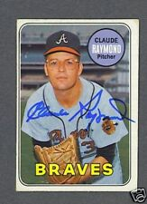 Claude Raymond signed 1969 Topps trading card