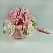Divine Shabby Rose's Jewellery Bag ..Travel Roll .. Organiser .. Holder