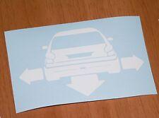 adesivo Peugeot 206 rc cc sticker decal vynil vetro auto macchina car