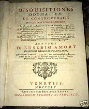 LIVRE ITALIEN DE 1745 SUR LA RELIGION