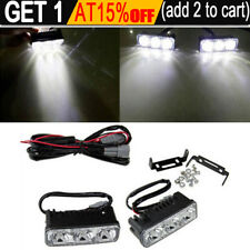 2 x Super Bright 3 LED Daylight Running Light Daytime Driving Light DRL White