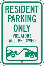12x18 Resident Parking Only with Graphic 3M engineer grade reflective sign