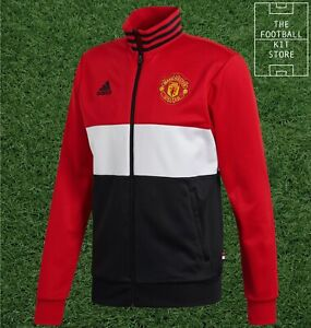 adidas Manchester United Track Top - Man Utd Football Jacket - Mens - Medium