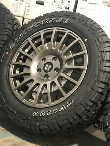"""18"""" VW CRAFTER MAN TGE ALLOY WHEELS 5X120 ALL TERRAIN TYRES GLOSS GREY CAMPER"""
