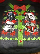 STAR WARS UGLY CHRISTMAS SWEATER DARTH VADER STORMTROOPERS BLACK XXL 2XL NEW