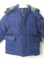 BOYS BABY GAP BLUE HOODED QUILTED PADDED COAT JACKET KIDS AGE 18-24 MONTHS
