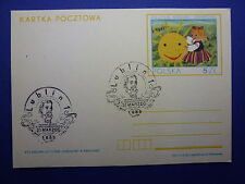 LOT 12577 TIMBRES STAMP ENVELOPPE MUSIQUE POLOGNE ANNEE 1985