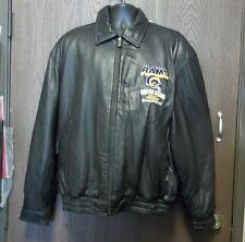 G-III Carl Banks NFL St Louis Rams Super BowlXXXIV Champions Leather Jacket XL