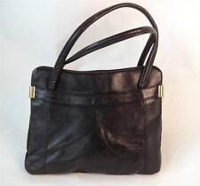VINTAGE Jane Shilton Neri in Pelle Handbag Bag