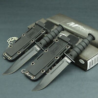 Lot Of 2 MTECH Tactical 440 Stainless Fixed Blade Neck Knives Knife Black EDC