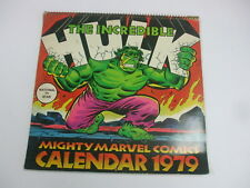 Vintage Mighty Marval Comics The Incredible Hulk 1979 Calender