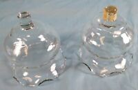 Votive Cups Set of 2 Homco Home Interior Crystal Clear Glass Ruffled Edge