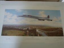 "CONCORDE ""THE FINAL FLIGHT"" PRINT SIGNED BY PILOTS  &  ARTIST ADRIAN RIGBY"