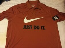 Men's Nike Golf Dri-Fit Short Sleeve Mesh Polo Shirt New Desert Orange