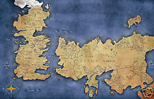 Game of Thrones Map of Westeros and Essos