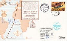 Error World Record Flight UK to Falklands signed .Rt Hon Michael Heseltine MP