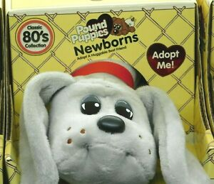 Pound Puppies - Classic 80's Newborns GRAY with Brown Spots HASBRO Basic