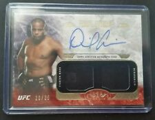 #20/25 Daniel Cormier Gear Auto Relic Patch Tier One 2017 Topps UFC Knockout