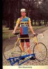 DIRK WAYENBERG Team EUROP-DECOR BOULE D'OR Signed Autographe eddy merckx vélo