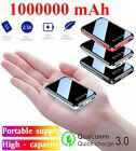 1000000mAh Mini Power Bank Dual USB UltraThin External Battery Backup Charger
