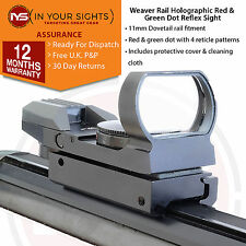 Holographique viseur reflex/4 réticule rouge et vert dot sight costume 9.5-11mm queue d'aronde